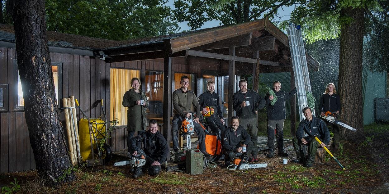 Boomspecialist (BB) bomen, het team.